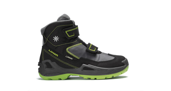 Lowa Milo GTX Mid Shoes Junior schwarz/limone